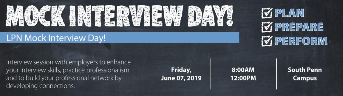 LPN Mock Interview Day 2019